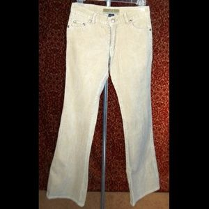 ICE beige stretch cotton corduroy pants 3